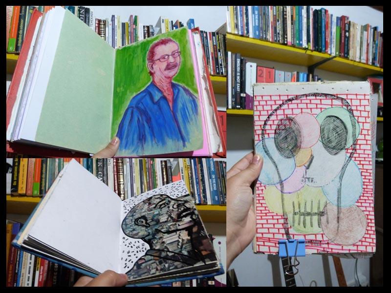Sketchbooks e moleskines presentes no processo criativo