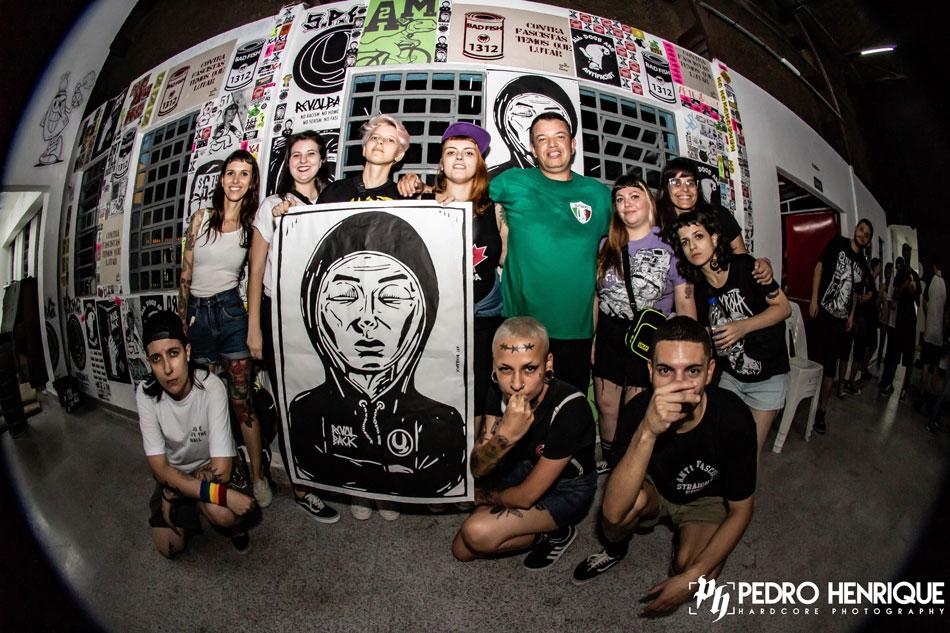 Natal HC no centro cultural do Butantã em que fui convidado para fechar um mural com artes minhas e amigxs juntos